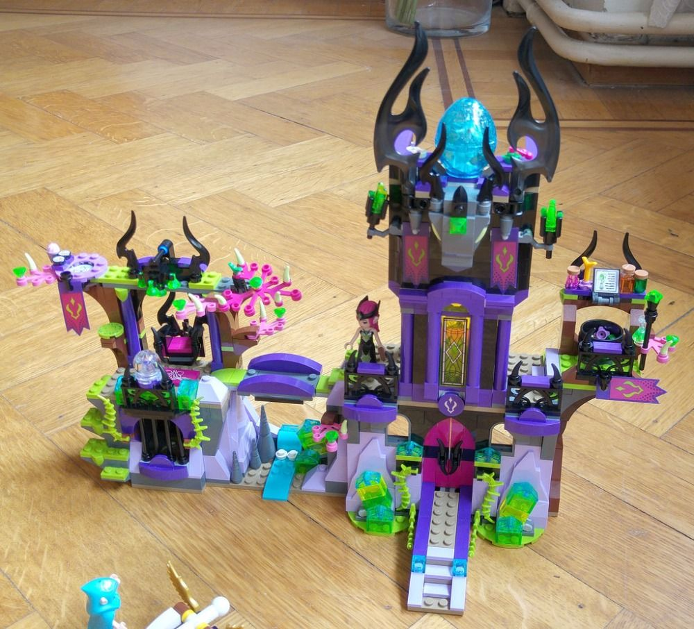 New Elves fairy Ragana's Magic Shadow Castle fit legoings elves fairy figure <font><b>building</b></font> Block Bricks Toys girls Toy 41180 gift kid