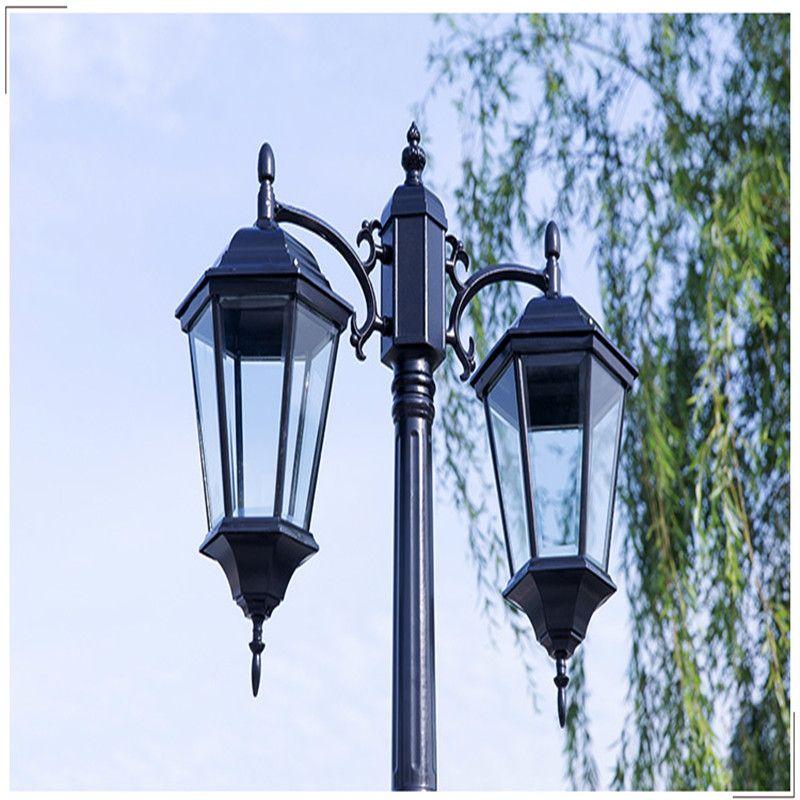 Waterproof Aluminium Die-casting Street Light Outdoor Landscape Lamp Never Rust Garden Yard Aisle Street Lights Black