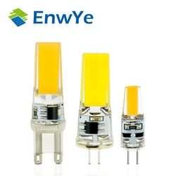 EnwYe LED G4 G9 Lampe Ampoule AC/DC Gradation 12 V 220 V 3 W 6 W COB SMD LED Feux D'éclairage remplacer Spot Halogène lustre