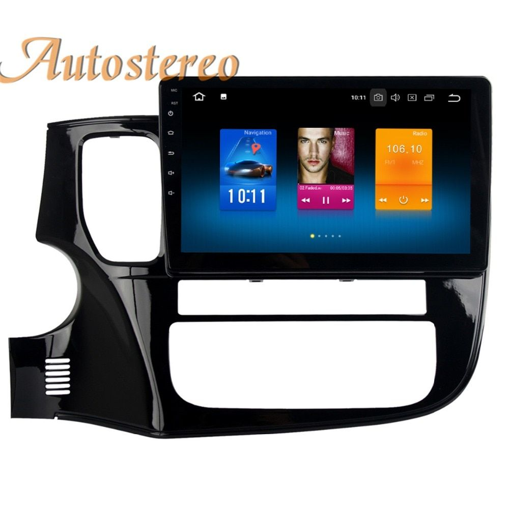 Autostereo Android 8 Car GPS navigation For Mitsubishi OUTLANDER 2014 2015 2016 2017 multimedia SatNAV no DVD player head unit