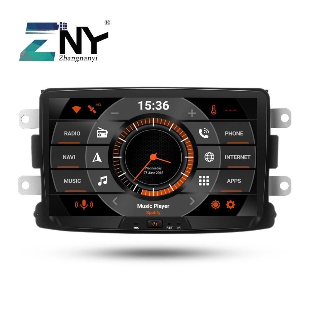 8 IPS Android 9.0 Auto Stereo GPS Für Renault Duster Dacia Sandero Logan Lodgy Captur Radio FM Navigation DSP Audio hinten Kamera