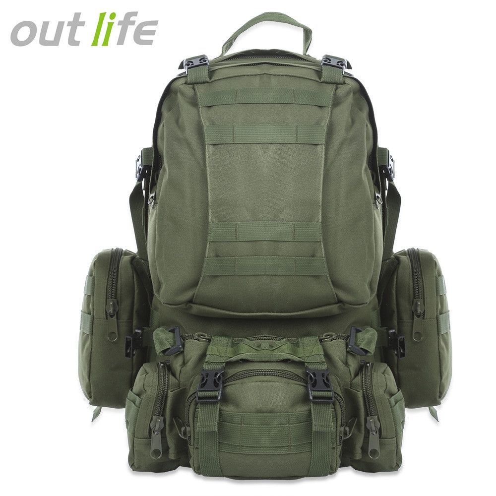 Outlife 50L Outdoor Backpack Molle Military Tactical Backpack Rucksack Sports Bag Waterproof Camping Hiking Backpack For Travel