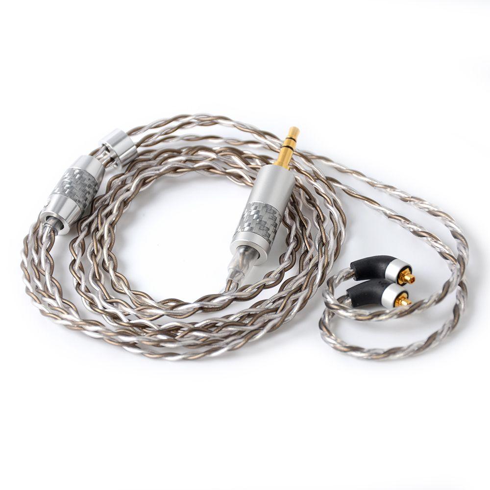 Hohe Qualität NICEHCK 3,5/2,5/4,4mm Ausgewogene MMCX Anschluss 7N UPOCC Silber Überzogene Kabel Für SE846 LZ a6/A5 NICEHCK M6/EBX/NK10