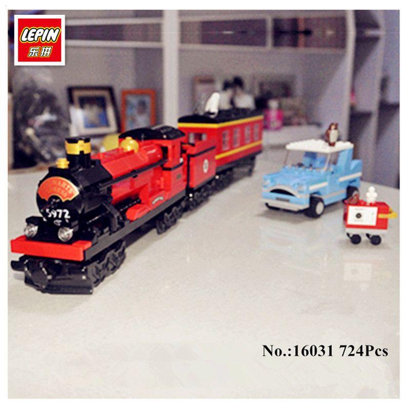 Lepin 16031 724 Unids Serie Movie Divertido El Expreso de Hogwarts Conjunto 4841 Regalo Modelo de Bloques de Construcción Ladrillos Niños Juguetes Educativos