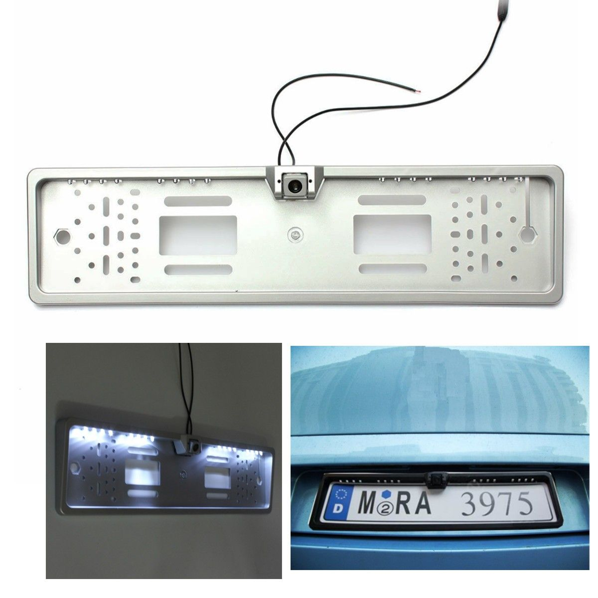 Newest Car 16 LED Number Plate Frame Light Rear View Camera Backup Parking Reversing 170 degree wide viewing angle