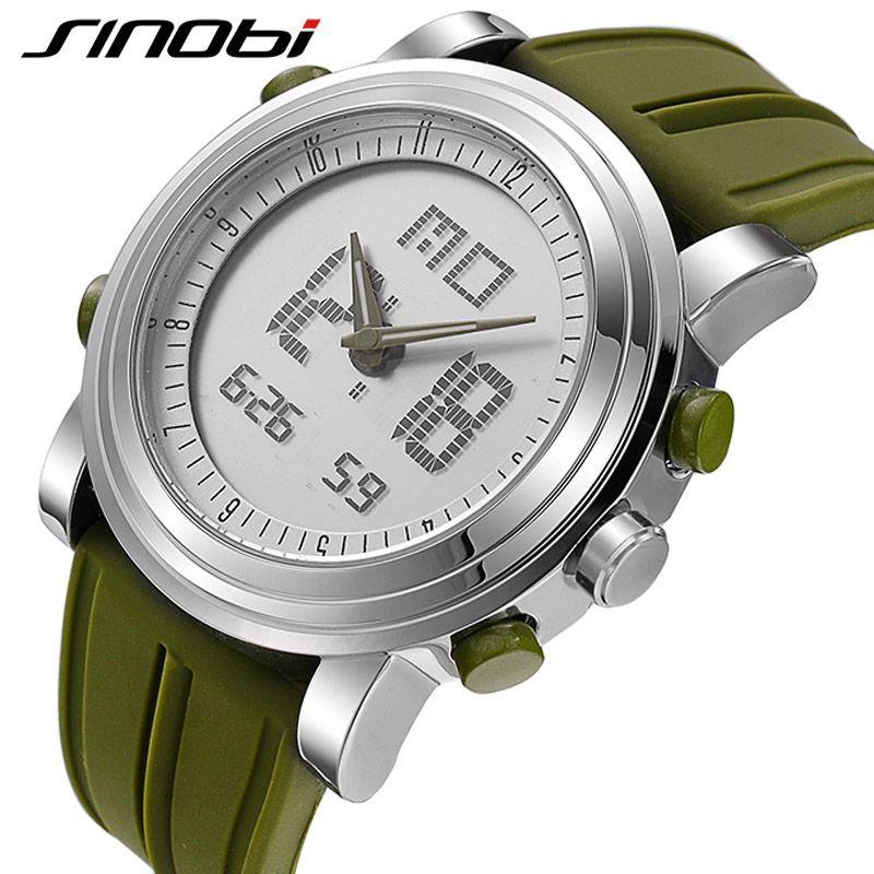 SINOBI 2017 Спорт цифровой Для мужчин Для женщин наручные Часы наличии часы Дата Водонепроницаемый хронограф Бег Часы Montres Femmes