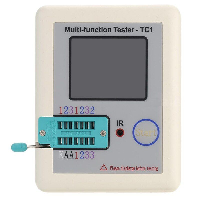 THGS LCR-TC1 Transistor Tester Didoe Triode Capacitance Resistor NPN PNP Detector 8DC0