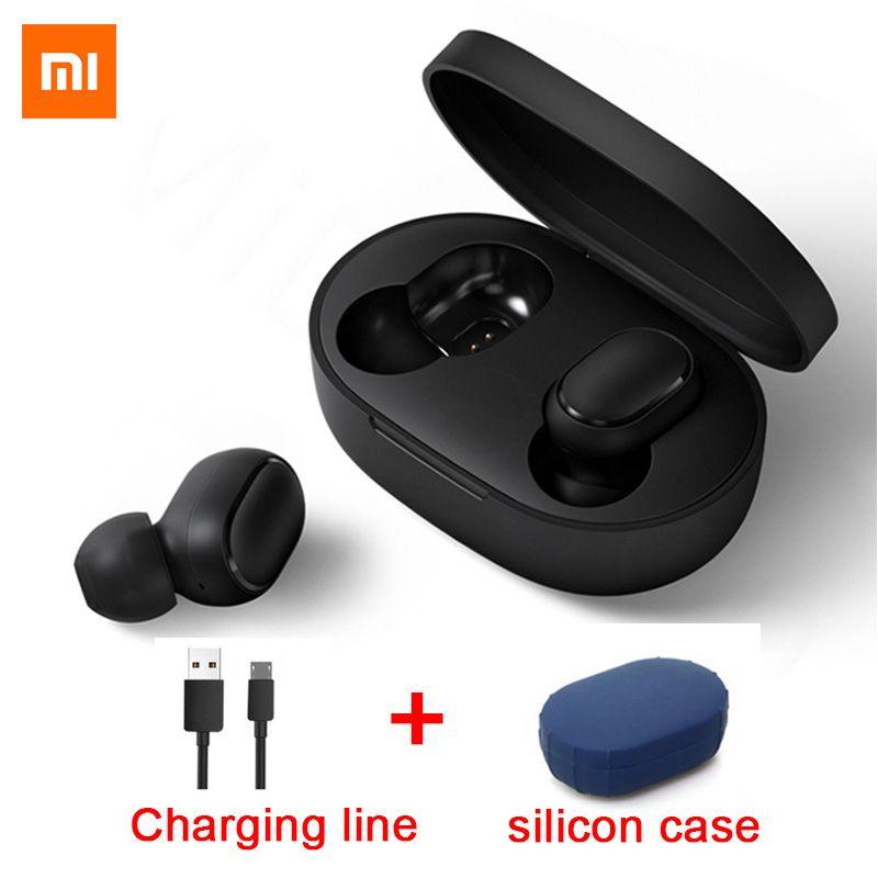 Original Xiaomi Redmi Airdots TWS Bluetooth écouteur stéréo basse BT 5.0 Eeadphones avec micro mains libres écouteurs AI contrôle