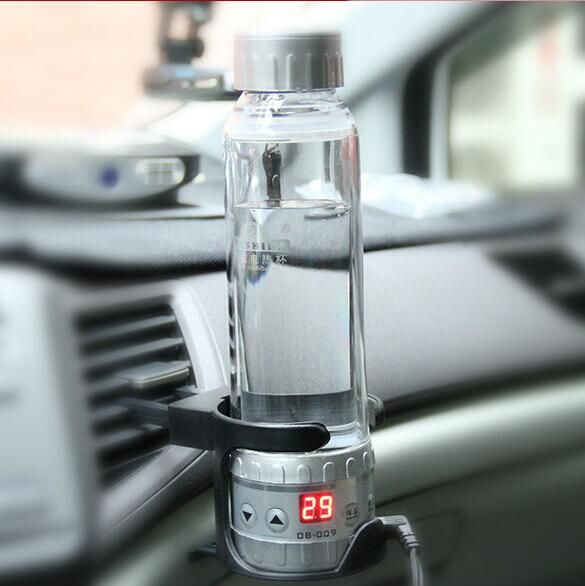 OUSHIBA 280ML 12V to 24V car electric kettles portable car electric heating cup making tea coffee and milk