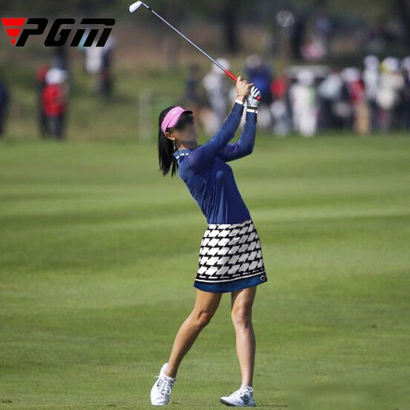 PGM Brand Women's Golf Skirt Girl Leisure Sport Tennis Plaid A Skirt Slim Comfortable Breathable with Lined Underpants XS M L XL