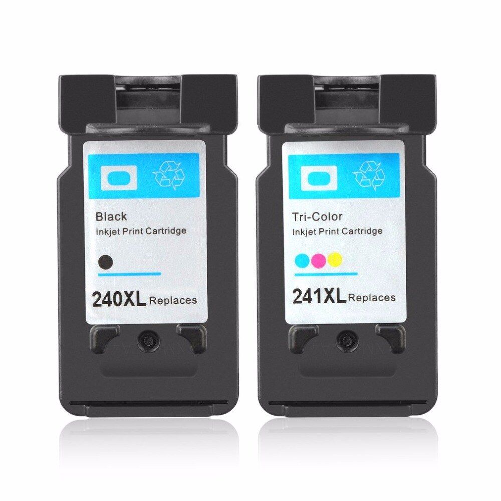 2Pcs PG-240XL For Canon 240 and 241 Ink Cartridges for Canon Pixma MG2120 MG2220 MG3120 MG3220 MX434 MX514 MG4120 MG4220 MX512