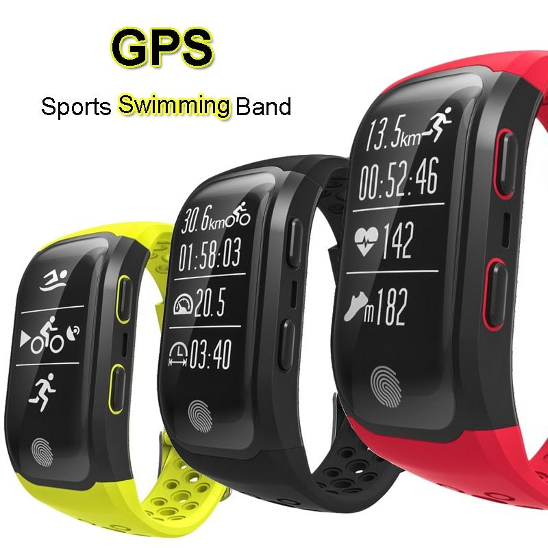 GPS Sports Smart Band IP68 Waterproof Swimming Wristband Bluetooth Heart Rate Monitor Fitness Tracker Measure Mileage S908 Watch