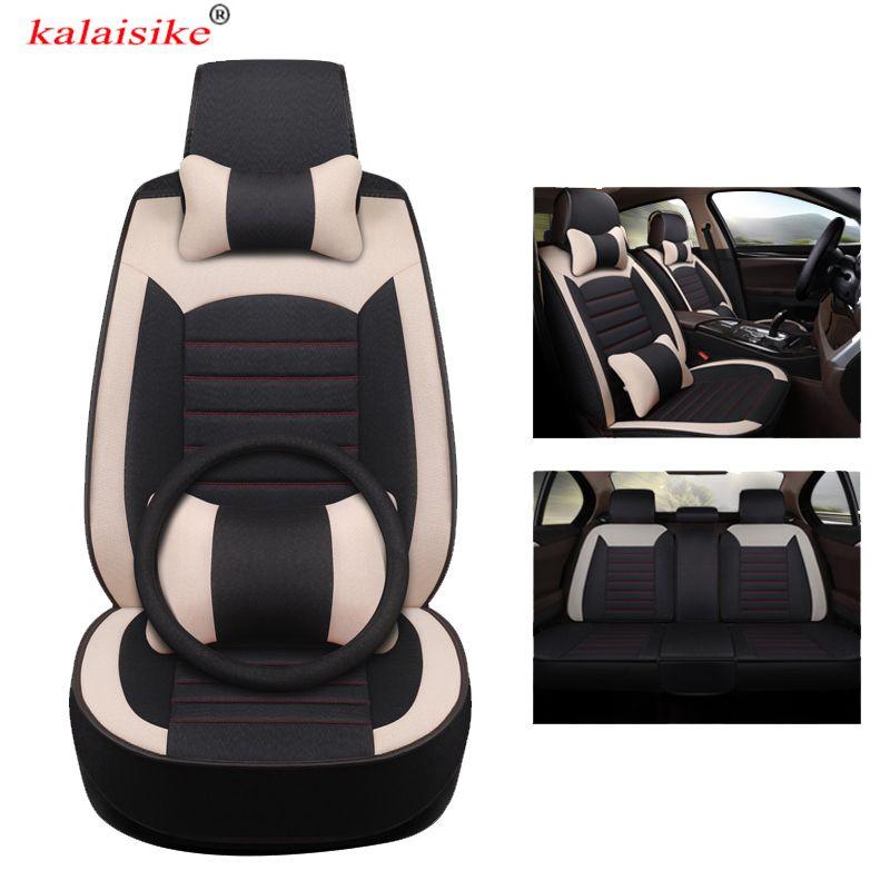 kalaisike universal Flax car seat covers for Opel all model astra j insignia vectra c b corsa d c meriva zafira a antara mokka