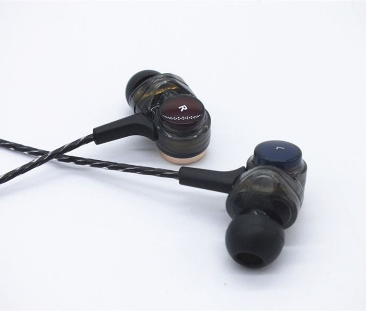 DIY Three Dynamic Driver System Speakers HIFI Bass Subwoofer In Ear Earphone With mic Stereo Sports Monitor Earbud Headset