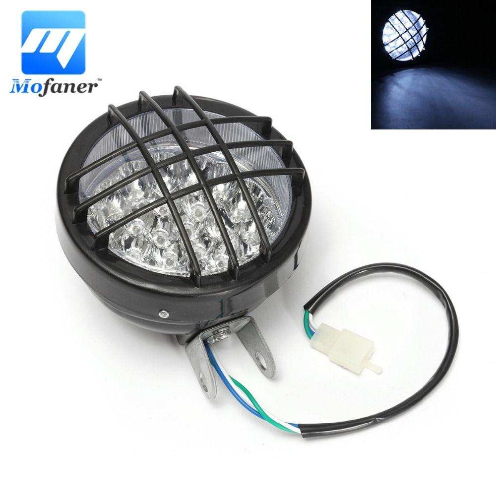 12V Motorcycle ATV Headlight Fog Light Front LED Head Lamp For ATV Quad 4 Wheeler Go Kart Roketa