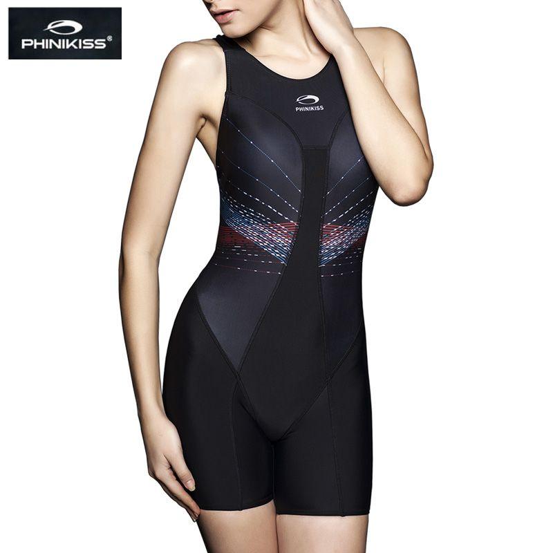 PHINIKISS Racing maillot de bain femme rayé une pièce costume plongée Sport professionnel compétition maillots de bain 2018 Triathlon grande taille