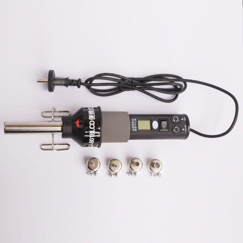 220V 450W Degree LCD Adjustable Electronic Heat Hot Air Gun Desoldering Soldering Station IC SMD BGA Rework 4 Nozzle 8018LCD