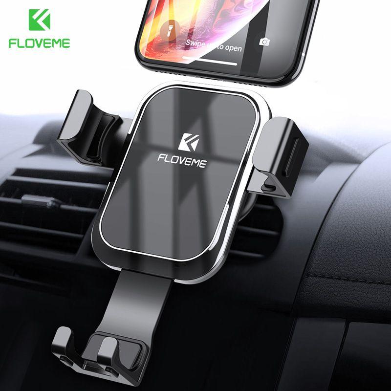 FLOVEME support pour téléphone de voiture nouveau pour Redmi Note 7 5 4 support pour téléphone avec évent à verrouillage automatique par gravité pour Huawei Mate 20 Pro 20 Lite 20