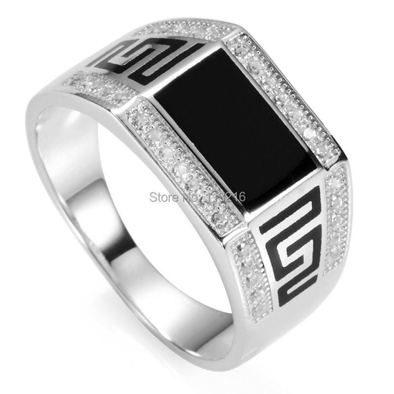 Eulonvan noir résine 925 argent sterling bagues de mariage bijoux & accessoires pour hommes livraison directe S-3778 taille 7 8 9 10 11 12 13