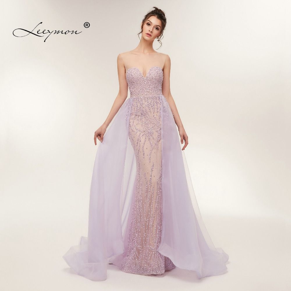 Free Shipping Heavy Beaded Sexy Trumpet Evening dress 2018 Open Back Sleeveless Sparkly Crystals Prom Dress Custom Made