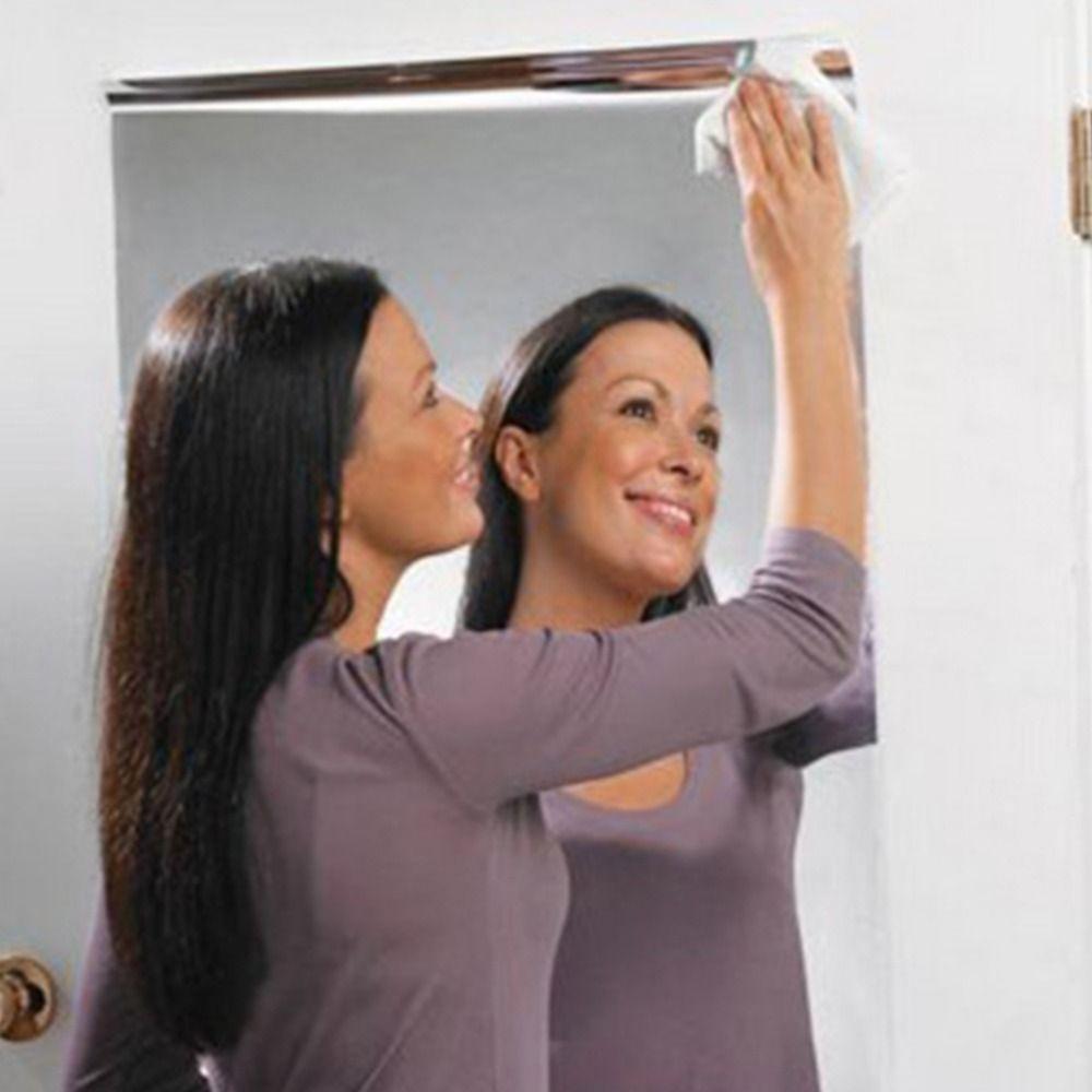 Silver Reflective Solar Film Decorative Mirror Foil Waterproof Self Adhesive Mylar Mirrored Contact Paper Luminous 60x100cm