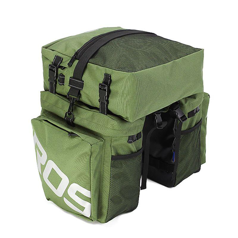 Roswheel 3 in 1 Multifunktions Straße MTB Mountainbike Tasche Fahrrad Rear Seat Trunk Bag Armee-grün
