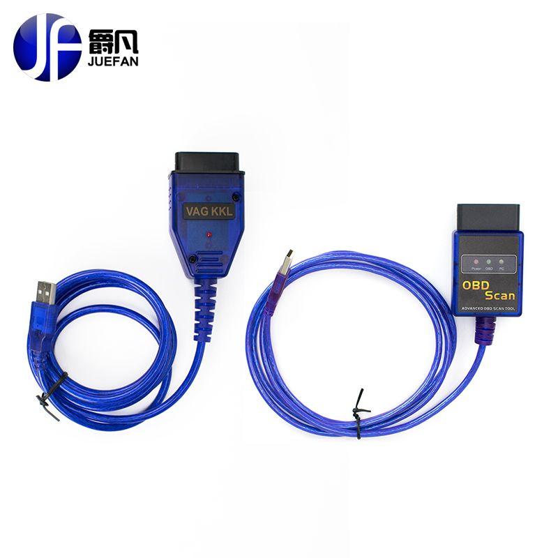 Горячие OBD2/OBDII сканер ELM327 VAG COM USB для Audi/VW БД 2 Сканирование кабель ELM 327 Диагностический инструмент EasyDiag Бесплатная доставка