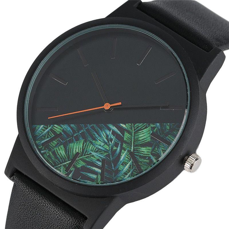 Unique Unisex Watches Tropical Jungle Design Quartz Wristwatch for Men's Women's Creative Casual Sport Clock Hour Gift 2017 New