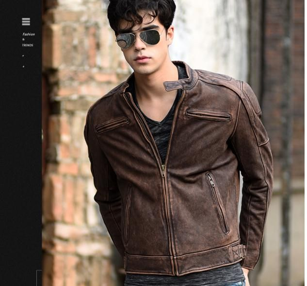 Free shipping.5XL Plus size Brand Classic biker cow leather jacket man,100% genuine leather jackets,vintage quality men sales