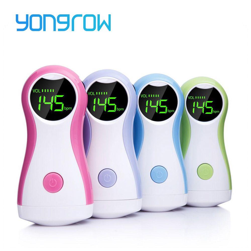 Yongrow Doppler foetal bébé moniteur LCD affichage Portable bébé moniteur de fréquence cardiaque avec écouteurs YK-90C pour les femmes enceintes
