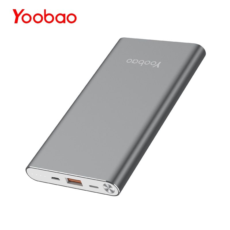 Yoobao A1 batterie externe 10000 mAh batterie externe Ultra mince borne chargeuse portable universelle pour iPhone Xiaomi Samsung Huawei
