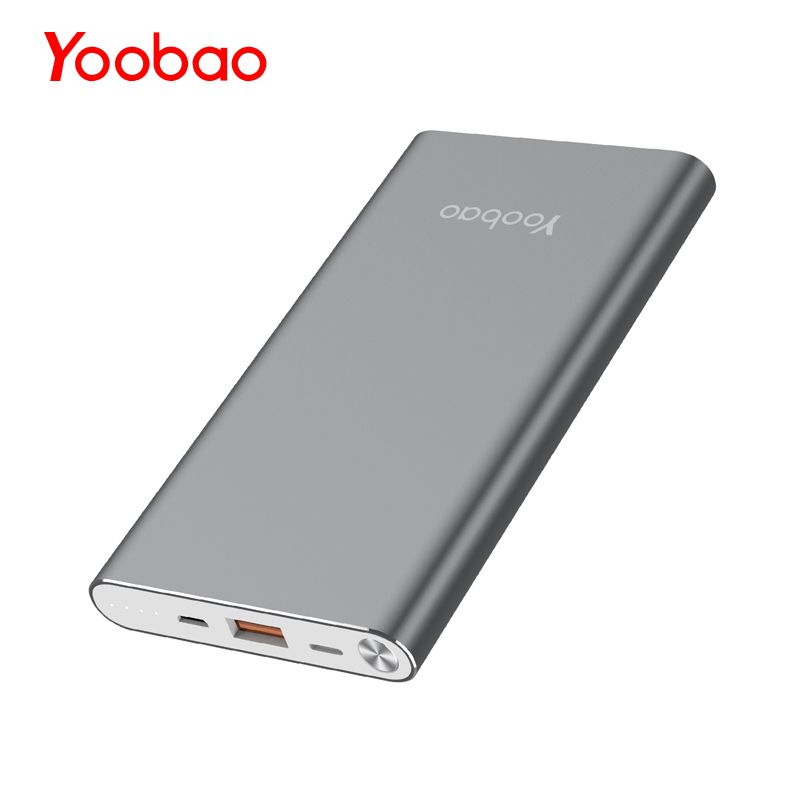 Yoobao A1 batterie externe 10000mAh batterie externe Ultra mince borne chargeuse portable universelle pour iPhone Xiaomi Samsung Huawei