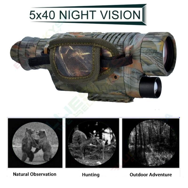 BOBLOV 5X40 Digital Infrared Night Vision Goggle Monocular 200m Range Video DVR Imagers for Hunting Camera Device Free 8GB Card