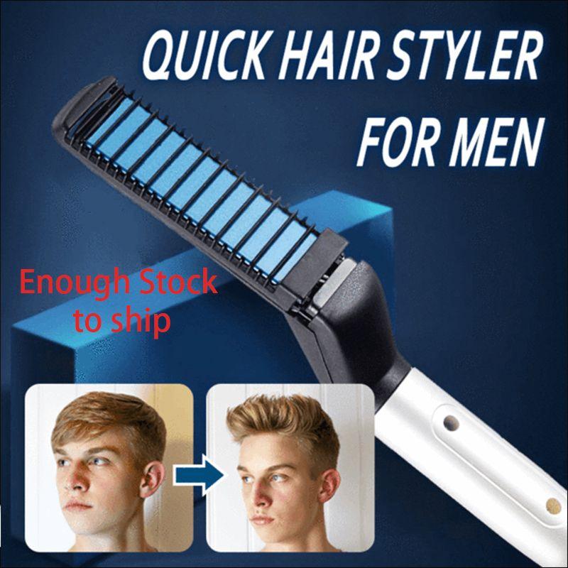 Multifonctionnel peigne à cheveux Curling bigoudi Spectacle Cap Rapide appareil de coiffure pour Hommes Chauffage Électrique Brosse À Cheveux Peigne Rapide Cheveux Faire