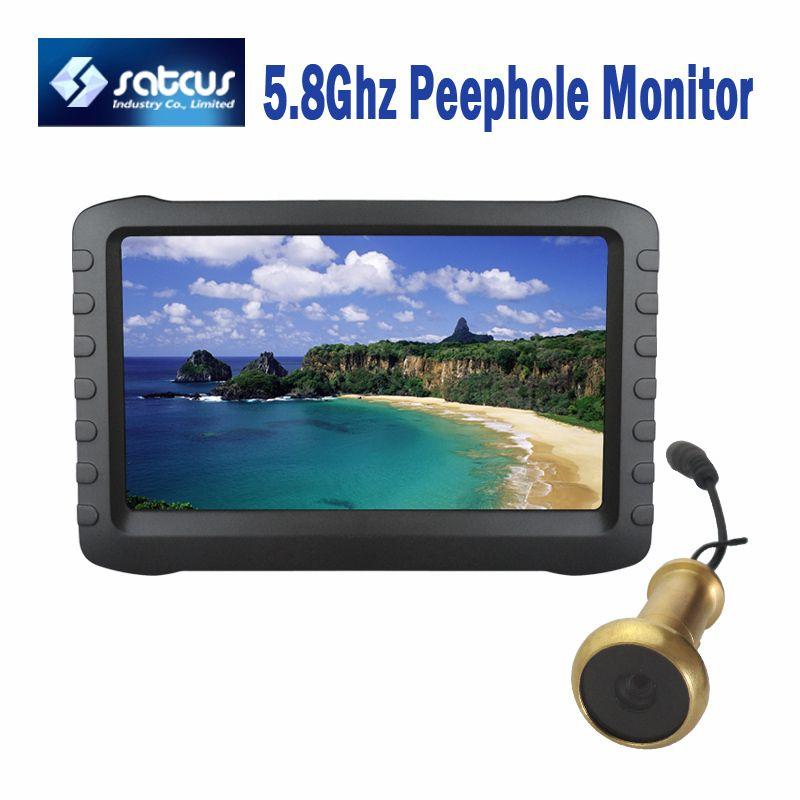 5.8G Wireless Digital Door Viewer HD Camera Intercom Recorder with 5