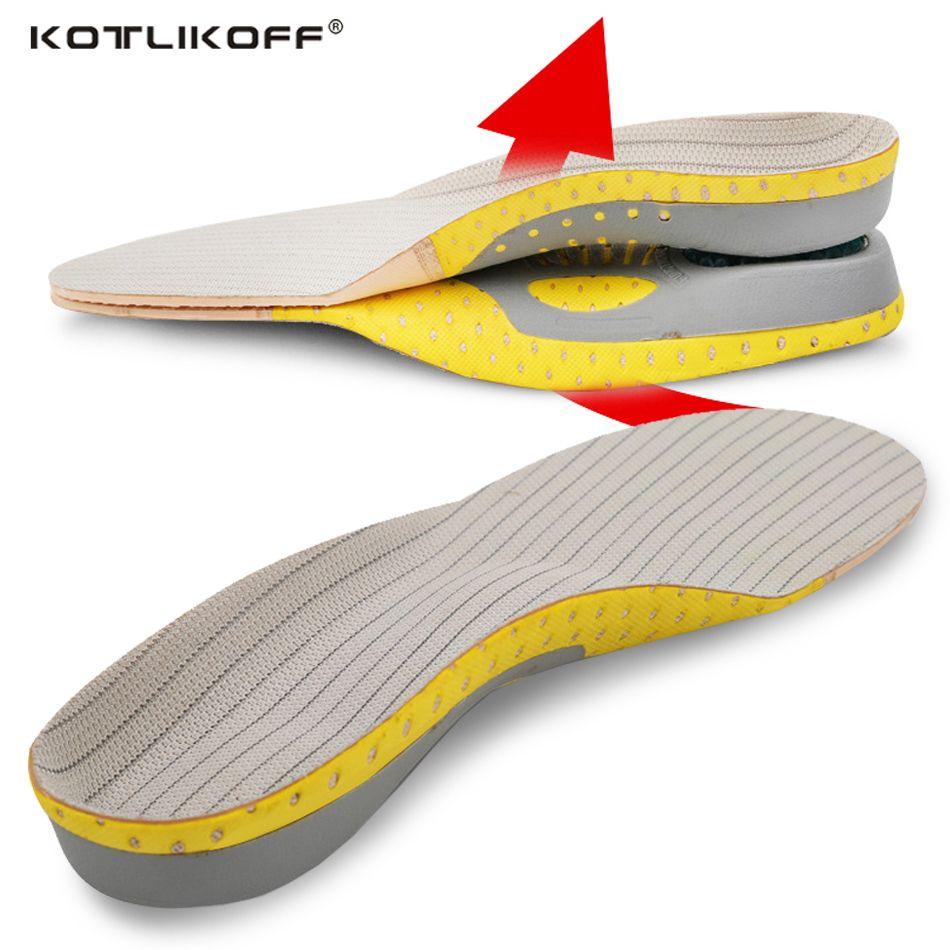 KOTLIKOFF PVC Adulte Plat Pied Arch Support Orthèses Orthopédiques Semelles pour Hommes Femmes chaussures inserts Chaussures accessoires