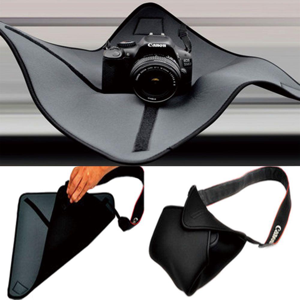 Shockproof DSLR SLR Camera Cover Fold Camera Sling Bag Shoulder Cross DSLR Soft Men Women Bag Make Your Own DIY Camera Bag Black