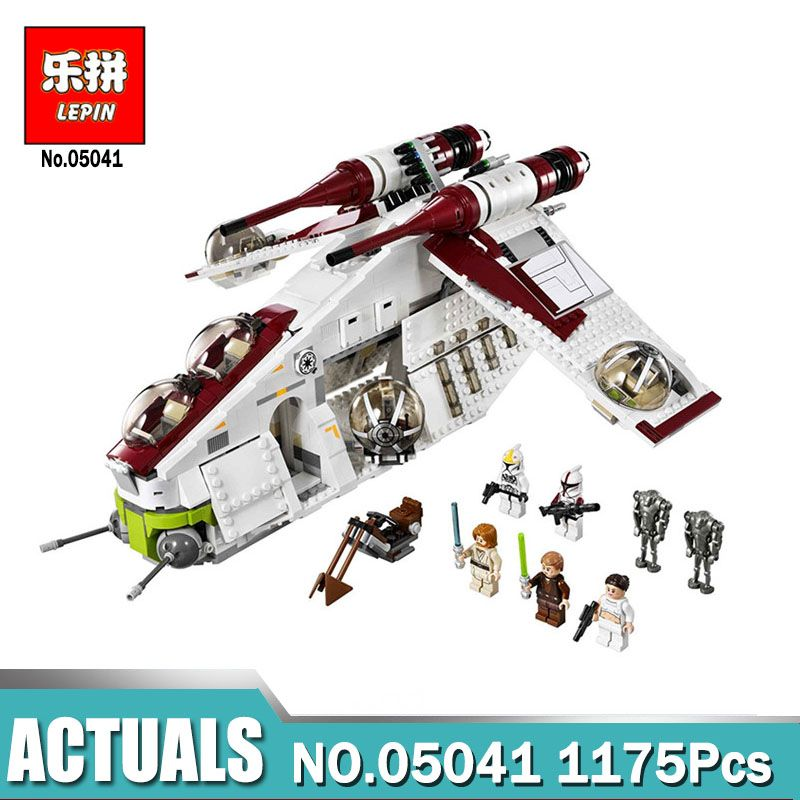 Lepin 05041 Wars on Star Toy Compatible legoinglys 75021 Republic Gunship Set for children Educational Blocks gift for boy