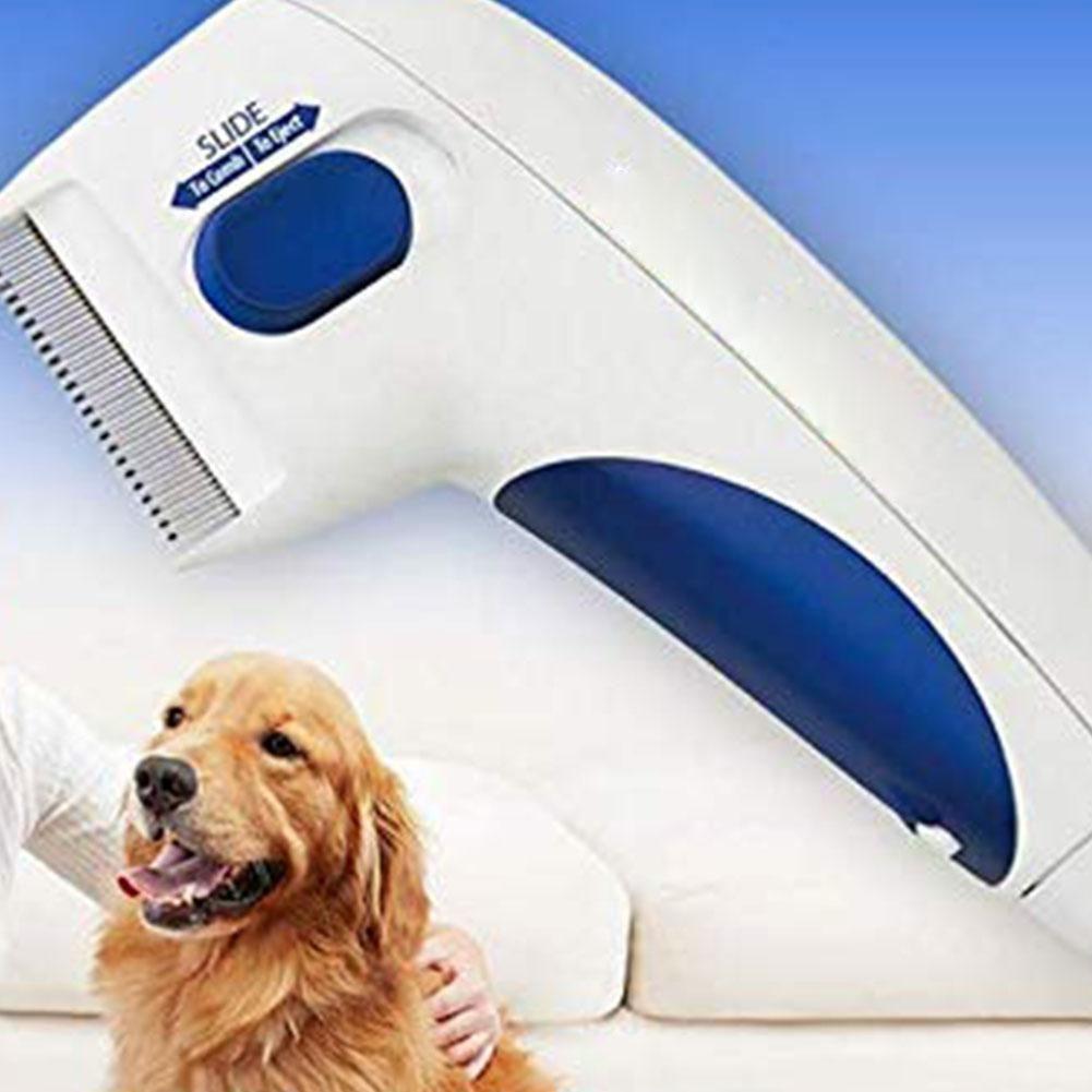 Peigne à puces électrique traitement sûr des poux pour animaux de compagnie tue les cheveux nettoyant peigne de toilettage pour chats chiens peigne physique de Capture de tiques de puces