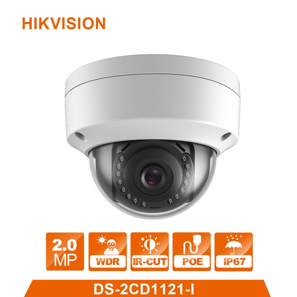Hikvision Original English CCTV Camera DS-2CD1121-I replace DS-2CD2125F-IS 2MP Mini Dome IP Camera POE IP67 Firmware Upgradeable