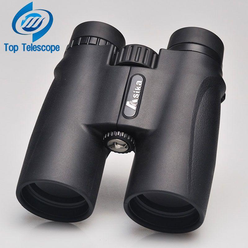 Fernglas Asika 10x42 hohe qualität Teleskop militärische nachtsicht binoculo high power telescopio für jagd black optics