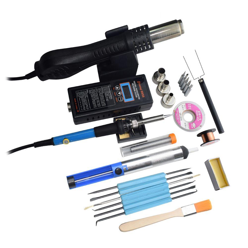Haute qualité 110 V/220 V Portable LED BGA Rework Station de soudure Air chaud souffleur pistolet à chaleur 8858