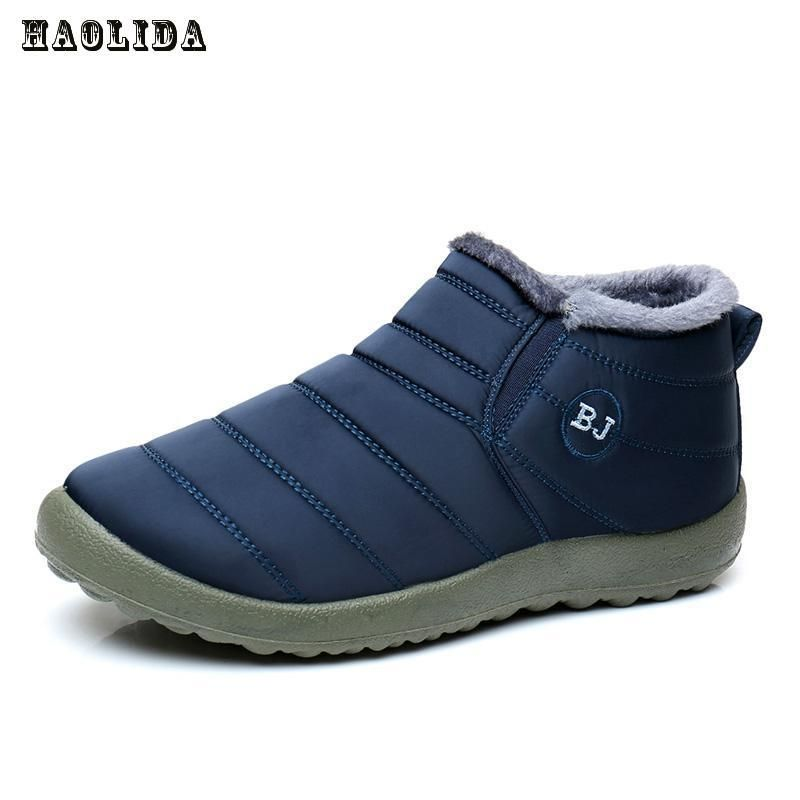 Waterproof Women Winter Shoes Couple Unisex Snow Boots Warm Fur Inside Antiskid Bottom Keep Warm Mother Casual Boots 35-44 Size