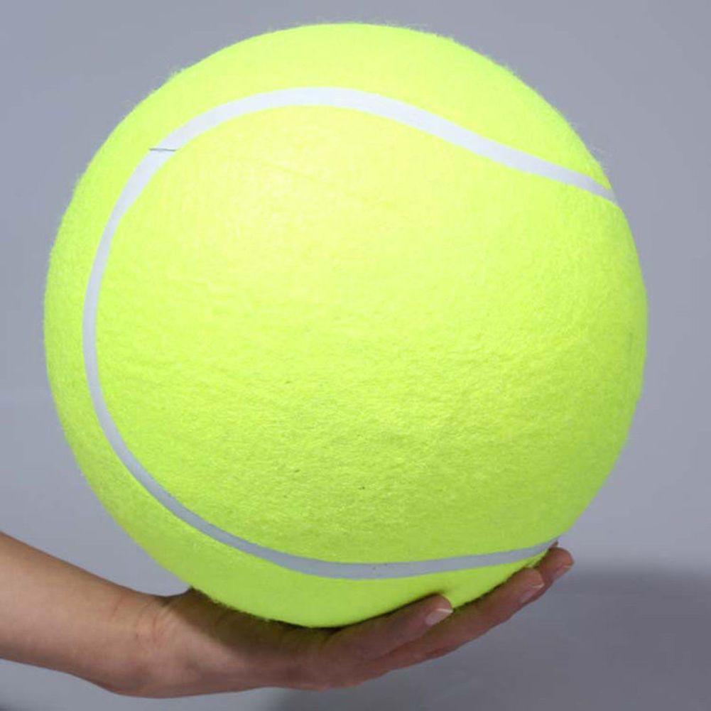24 CM Diámetro de la Pelota de Tenis Gigante Para Mascotas Masticar Juguete Inflable Grande Pelota de Tenis Al Aire Libre Firma Mega Jumbo Mascota de Juguete bola