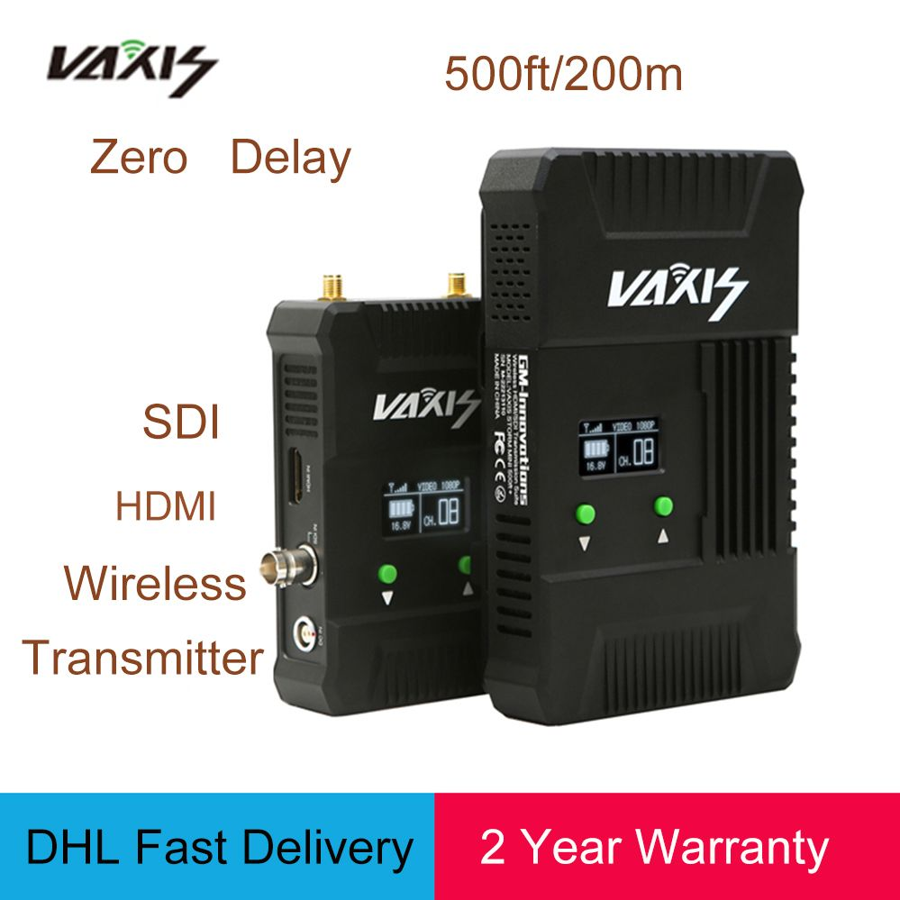 VAXIS Wireless WDHI 500ft+ 200M 3G 1080P transmission Broadcast system Audio/Video Camera HD for RONINS Ak2000 Ak4000 Crane2