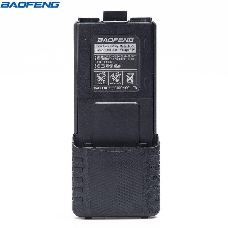 D'origine BAOFENG UV-5R BL-5L 7.4 V 3800 mAh batterie li-ion Pour Baofeng Talkie Walkie UV5R UV 5R Series Two Way Radio (noir/Camo)