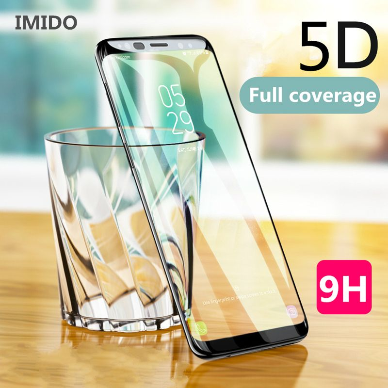 2018 New 5D Curved Full Cover Tempered Glass For Samsung Galaxy S9 S8 Plus Screen Protector Film For Samsung Galaxy A8 A6 plus