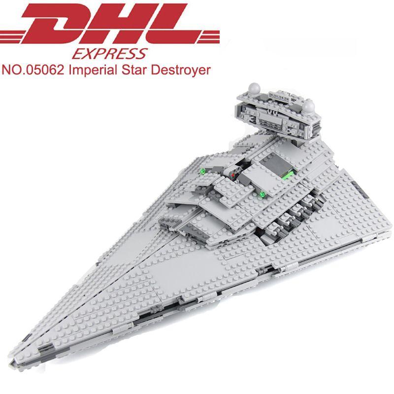 1359Pcs Star Wars Figures Imperial Star Destroyer Model Building Kits Blocks Bricks Christmas Toys For Children Compatible 75055