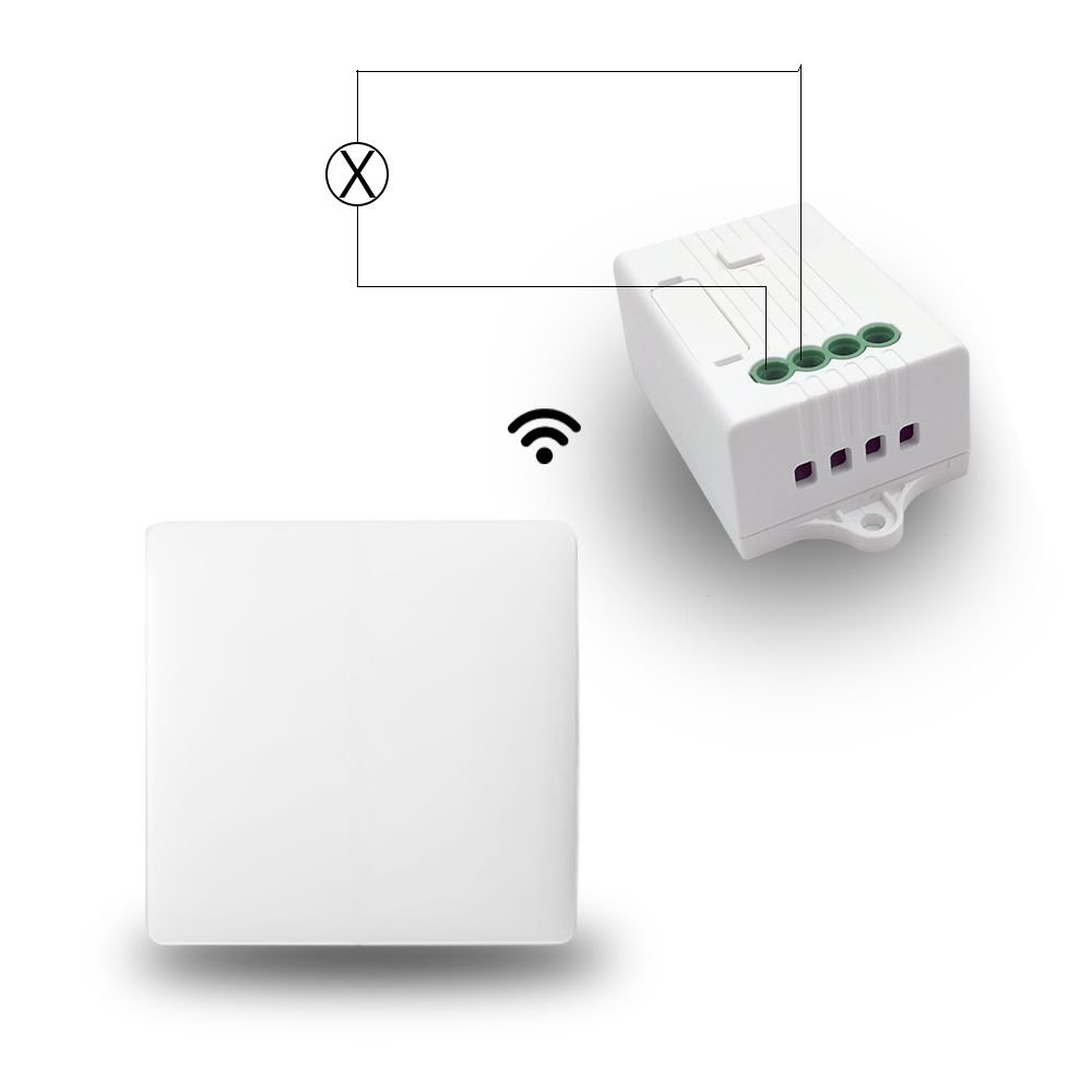 Home Automation Wireless on/off Switch Battery-free and Receiver work with Alexa Google Home Dimmer Control Timer Control