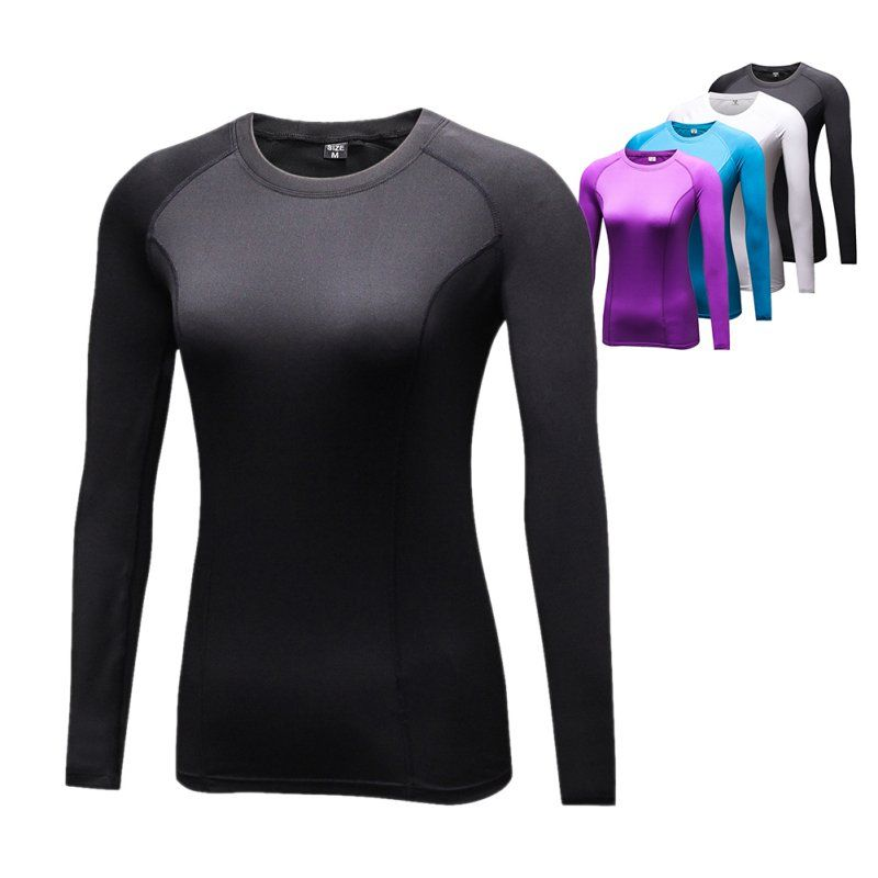 Woman T shirt Compression Tights Women's T-shirt Quick Dry Long Sleeve T-shirts Fitness Women Clothes Tees & tops